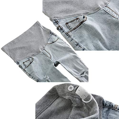 Maternit Dchir En vrac jeans Hzjundasi Pantalon 2 Gland lastique Ajustable Bleu Enceinte Style TwYxtBtqF5