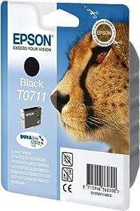 Epson Cartucho de tinta para Epson Stylus SX 215(1x Black) Cartuchos de impresora para SX215, 7ml