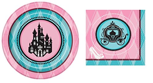 - Fairytale Princess Party Supplies Bundle (Dessert Plates Napkins for 16)