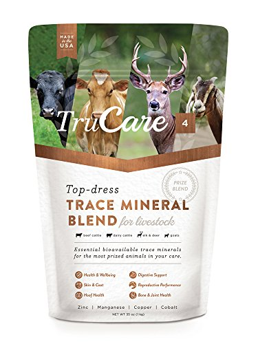 - TruCare 4 Top-Dress Trace Mineral Blend for Livestock: Beef Cattle, Dairy Cattle, Deer, Elk, Goats (Zinc, Manganese, Copper, Cobalt)