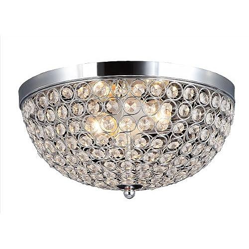 Elegant designs fm1000 chr elipse crystal 2 light ceiling flush mount chrome