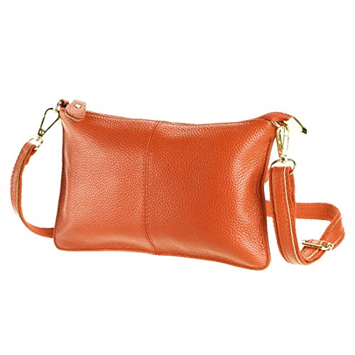 Women's Purse SEALINF Handbag Cowhide Bag Clutch orange Shoulder Leather Small UdxOwA1q