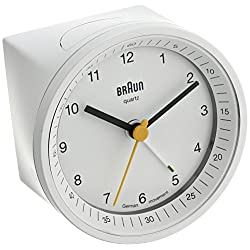 Braun BNC007WHWH Classic Light Analog Quartz Alarm Clock