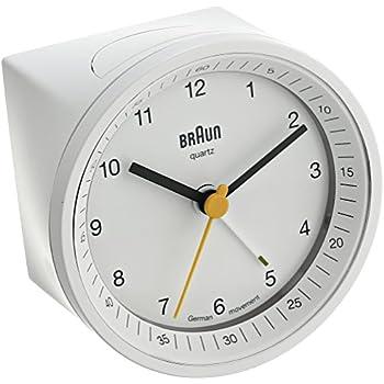Braun BNC007WHWH Classic Light Analog Quartz Alarm Clock