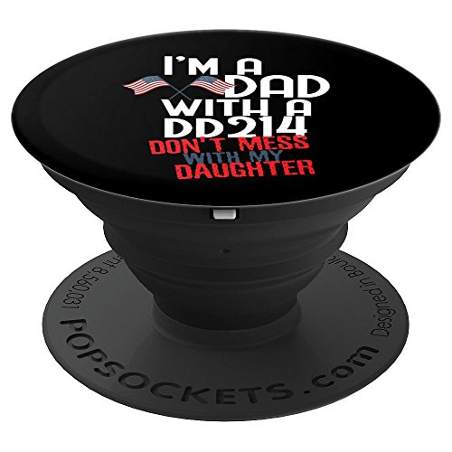 Veteran Funny DD-214 Alumni Military Gift Dad Fathers Day - PopSockets Grip and Stand for Phones and Tablets (Alumni Tee)