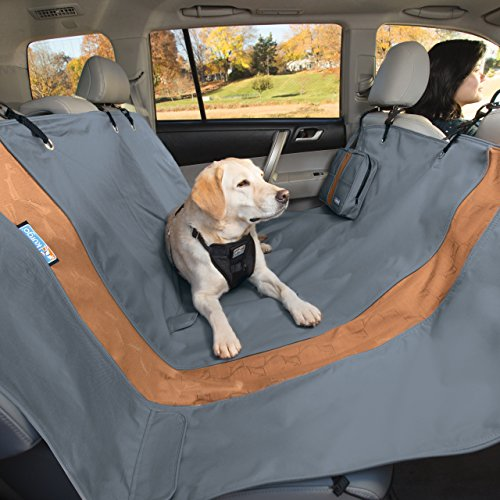 Kurgo Pet Seat Cover for Car or Truck| Dog Hammock Style Bench Seat Covers | Water Resistant | Scratchproof | Trucks | Cars | SUVs | 63 Inches | Grey/Gray (Hammock Width)