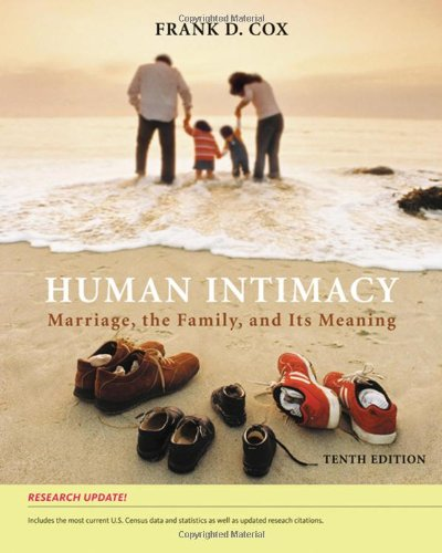 Human Intimacy: Marriage, the Family, and Its Meaning, Research Update by Wadsworth Publishing