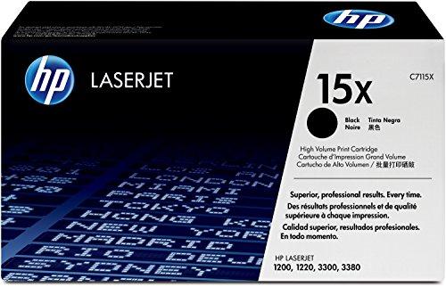 HP 15X (C7115X) Black High Yield Original LaserJet Toner Cartridge (Hp Laserjet 3380)