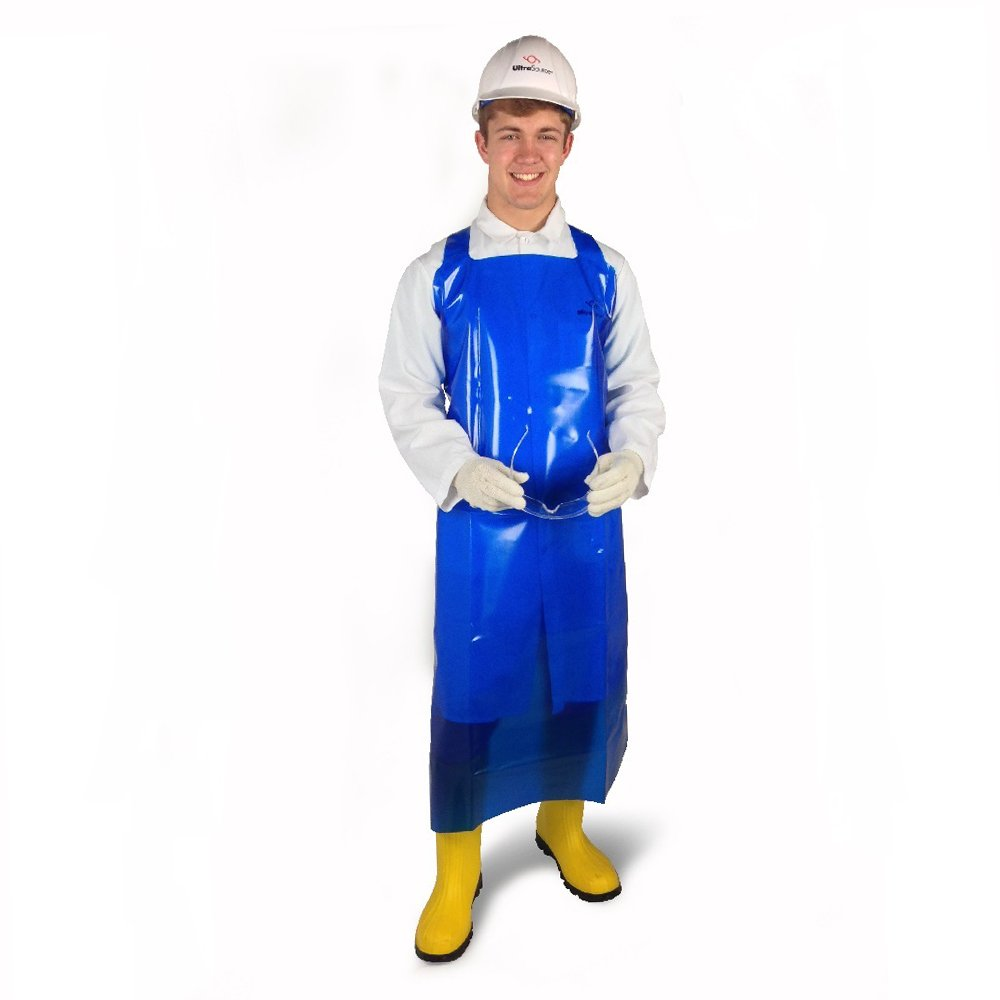 UltraSource 450034 Heavy Duty VR Aprons, 12 mil, 55'' Length, Blue (Pack of 12) by UltraSource