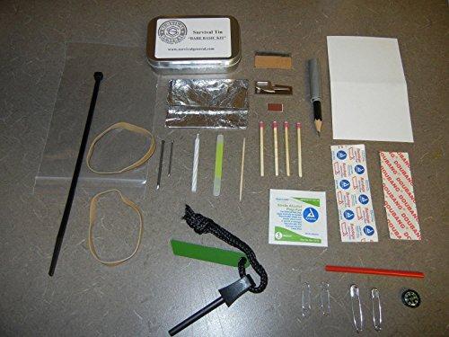 MOON KNIVES Bare Basic Survival Tin Kit Altoids Military BOB Camping Pocket Compact Light