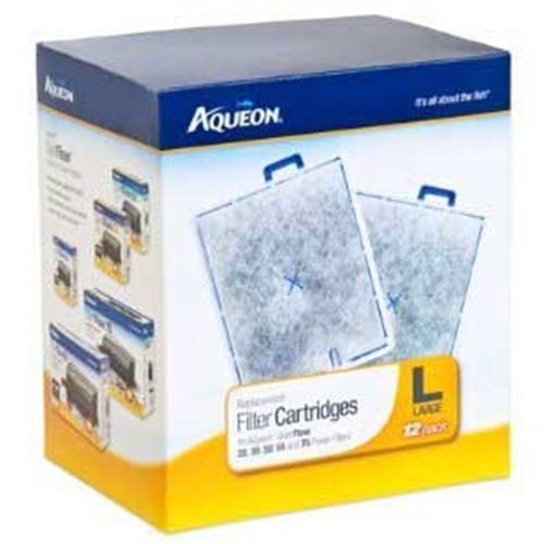Power Filter Replacement Cartridge (Aqueon QuietFlow Filter Cartridge, Large, 12-Pack)