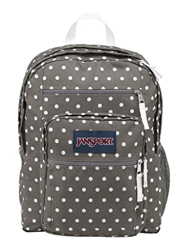 Grey Bags Dot - JanSport Big Student Classics Series Backpack - Shady Grey/White Dotss