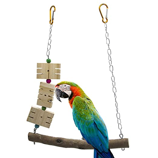 Wind Goal Portería de Madera para Colgar pájaros y Loros para ...