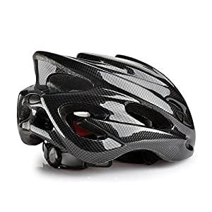 Fahrrad MTB Rennrad carbon look Adult Unisex Herren Helm in schwarz, Größe...