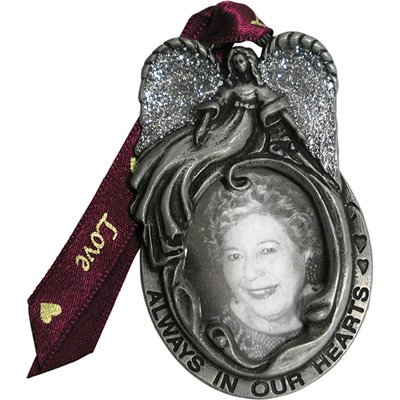 (Always in Our Hearts Pewter Photo Holder Memorial)