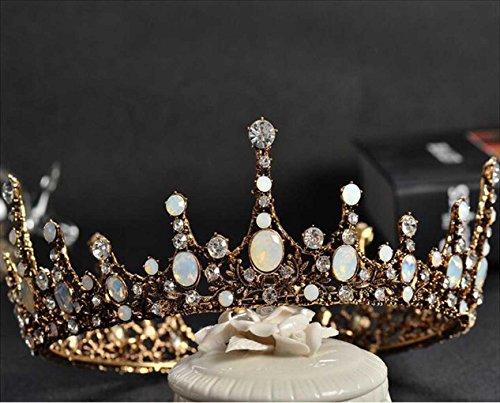Aukmla Bridal Wedding Tiara Crown Baroco Style for Women and Girls (Princess Style)