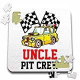 Carsten Reisinger - Illustrations - Pit Crew Uncle Funny Car Race Theme Birthday Party Host - 10x10 Inch Puzzle (pzl_275704_2)