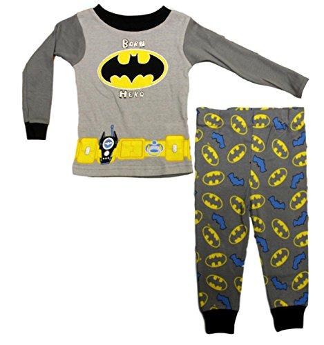 DC Comics Baby Boys Batman Born Hero Long Sleeve Pajama Set - 18 Months -