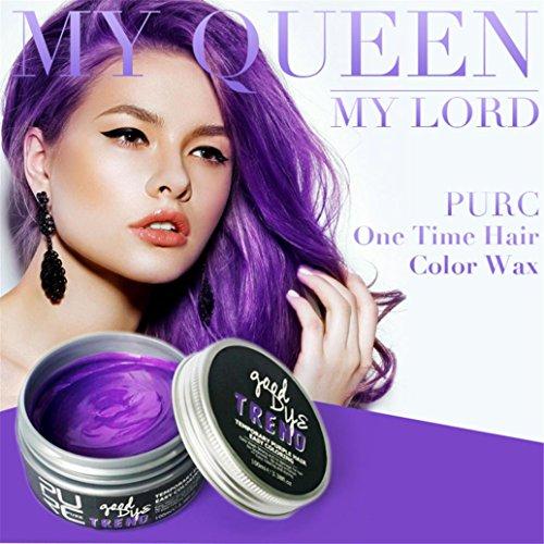 Semi Classical Costume (Sinwo NEW DIY Hair Color Dye Hair Clay Wax Mud Dye Cream Grandma Hair Ash Dye Hair Dye Temporary (100ml, Purple))