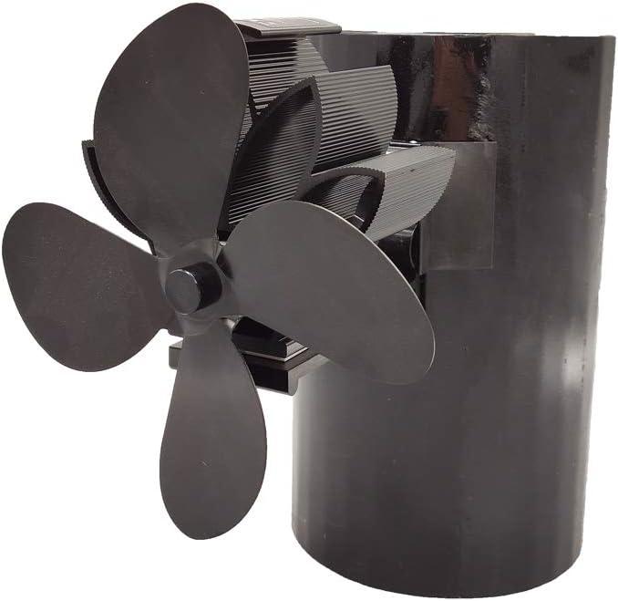 4 aspas de chimenea para colgar, ventilador de chimenea de leña, quemador de madera, ventilador para invierno