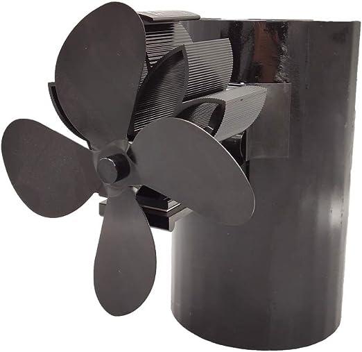 4 aspas de chimenea para colgar, ventilador de chimenea de leña ...