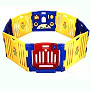 Costzon Baby Playpen Kids 8 Panel Safety Activity Center Play Zone