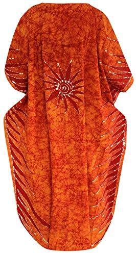 tunica LA di caftano abiti lungo insabbiamento maxi l kimono LEELA batik bikini beachwear 4x cotone wnPrnYFx