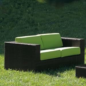 Cora 2 Seater Sofa by Varaschin R and D Colour: Dark Brown, Cushion: Piper Rain