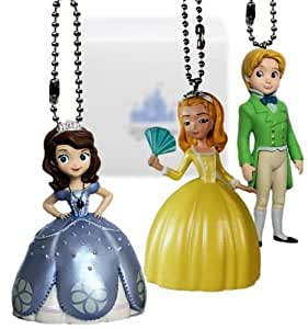 Disney Sofia the First Sofia, Amber & James 3 pc. Keychain/Dnagler Set - Limited Availability by Disney