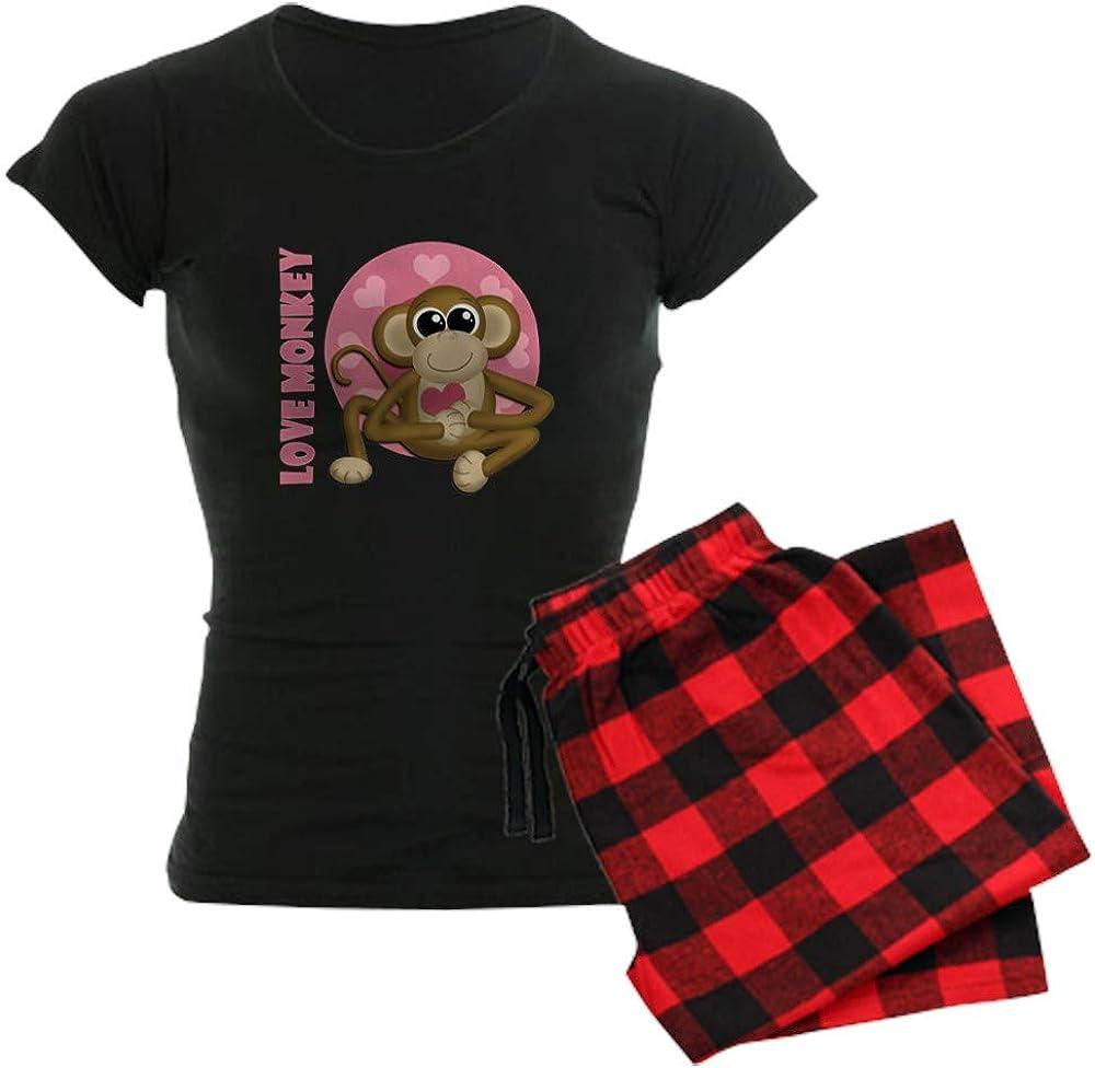 CafePress Love Monkey Womens PJs
