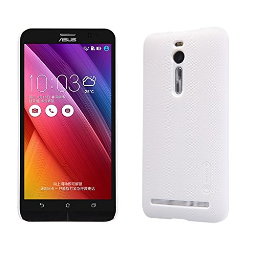 Asus Zenfone 2 5.5'' Inch Case,Leevin(TM) Frosted Hard Case Cover with HD Screen Protector for Asus Zenfone 2 (ZE550ML/ZE551ML) 5.5'' Inch (Frosted White)