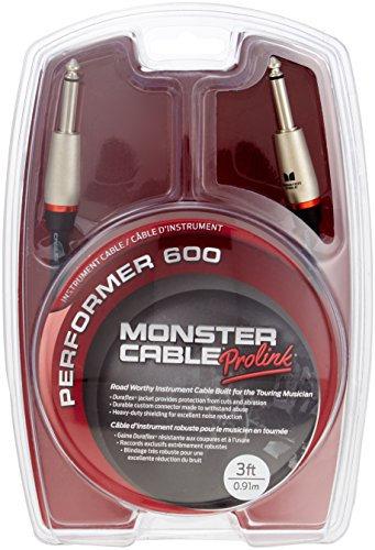 Monster Performer 600 Instrument Cable - 3' Straight-Straight by Monster