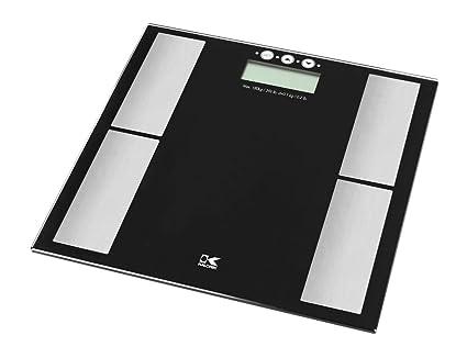 KALORIK báscula electrónica con analizador de grasa corporal, color negro