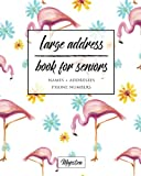 Large Address Book For Seniors: Flamingo Large Print, Easy Reference For Contacts, Addresses, Phone Numbers & Emails. (Large Print Address Books for Aging)
