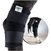 JunoPets Dog Canine Rear Leg Brace with Hole, Hock Joint Wrap
