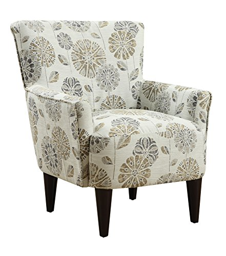 Power Cascade Mineral Accent Chair with Flared Arms And Welt Trim ()