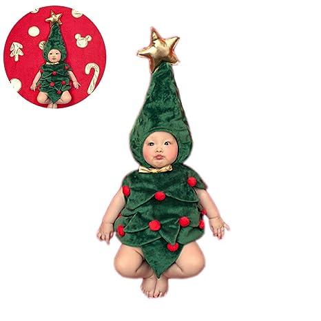 1 juego de traje de árbol de Navidad para fotografía de bebé ...