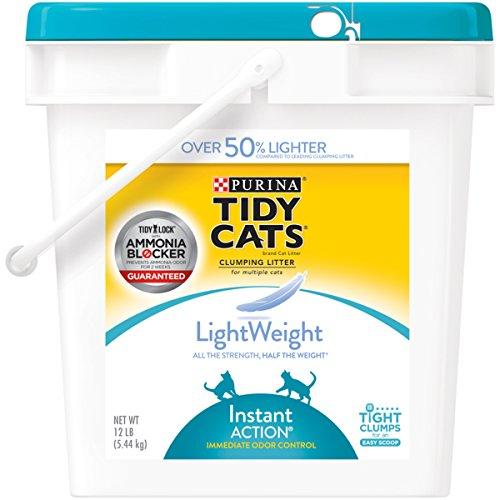 Purina Tidy Cats Light Weight, Dust Free, Clumping Cat Litter; LightWeight Instant Action Multi Cat Litter - 12 lb. -