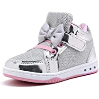 YILAN Little Girls Fashion Sneakers Lovely Casual Sport Shoes