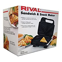 Rival Sandwich & Snack Maker White Model 9720