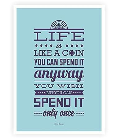 Amazoncom Lab No 4 Life Is Like A Coin Lillian Dickson