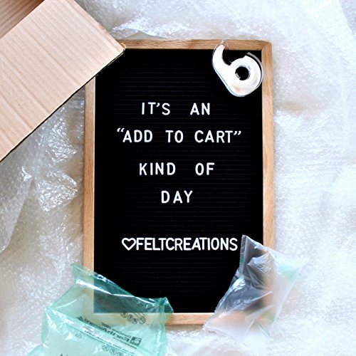 Felt Letter Board Set w/ EMOJIs, Black (12x18 inches) INCLUDES: 650+ Letters/Numbers/Symbols/Emojis, Wooden Oak Frame, Wall Hanger + FREE ORGANIZING CASE & LARGE LETTER BAG By Heart Felt Creations Photo #2