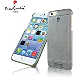Pierre Cardin Leather Back Cover Case Shell Cover for Apple iPhone 6- Grey