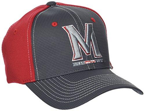 ZHATS NCAA Maryland Terrapins Adult Men Grid Cap, X-Large, Gray/Team Color