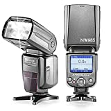 Neewer NW-985C E-TTL 4-Color TFT Screen Display *High-Speed Sync* Camera Slave Flash Speedlite with Flash Diffuser for Canon EOS 700D/T5i 650D/T4i 600D/T3i 1100D/T3 550D/T2i 500D/T1i 100D/SL1 400D/XTi 450D/XSi 300D/Digital Rebel 20D 30D 60D 5D Mark III 5D Mark II and All Other Canon DSLR Cameras