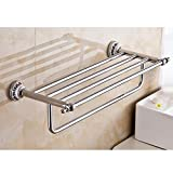 Znzbzt Bath & blue ceramic towel rack stainless steel towel bar mounted on a ceramic bath racks, Single Lever