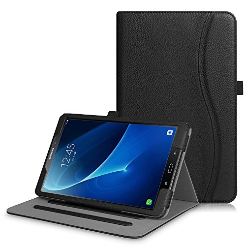 Fintie Case for Samsung Galaxy Tab A 10.1, [Corner Protection] Multi-Angle Viewing Folio Stand Cover with Packet Auto Sleep/Wake for Tab A 10.1 Inch (NO S Pen Version SM-T580/T585/T587) Tablet, Black