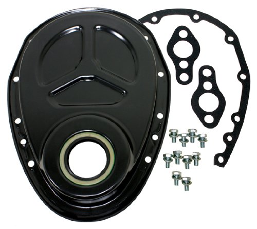 Chevy Small Block 283-305-327-350-400 Aluminum Timing Chain Cover Set (Roller Cam) - ()
