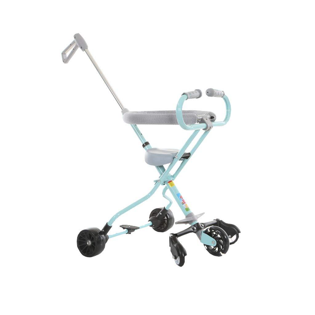 Kinder Trolley Light Folding Dreirad mit Kindern Tragbare Kinder 1-3 Sechs Jahre Alten Kindern