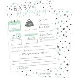 50 Mint Stars Advice and Prediction Cards for Baby Shower...